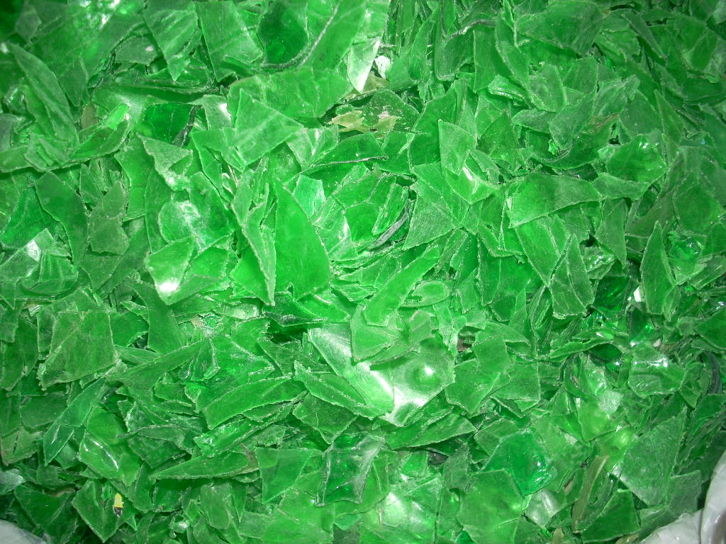 PET FLAKES GREEN 002